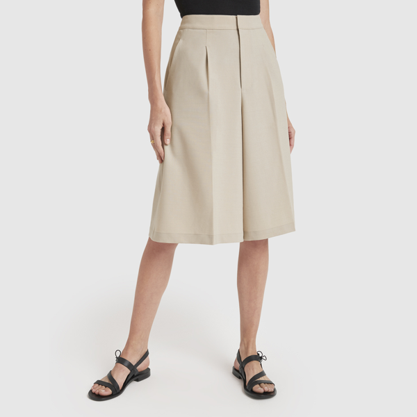 Co Pleated Culottes In Beige