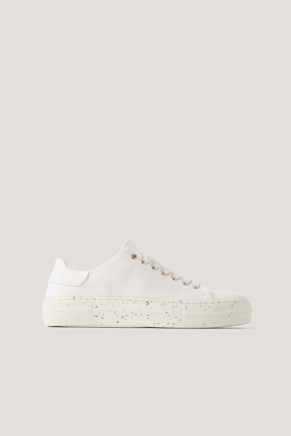 Na-kd Reborn Recycled Canvas Trainers - White
