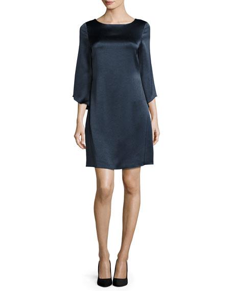 Diane Von Furstenberg Korrey Satin Shift Dress, Deep Night