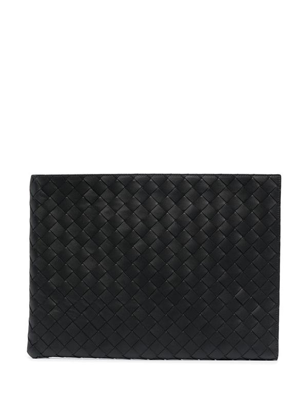 Bottega Veneta Black Leather Document Holder