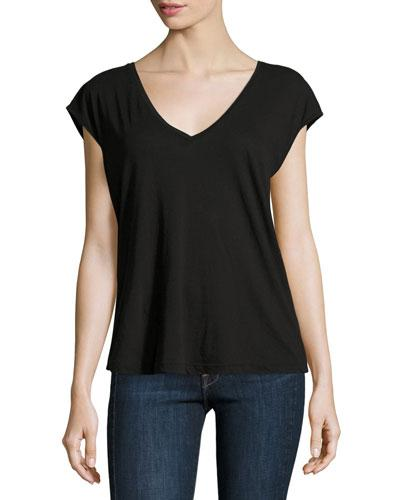 Frame Feminine Muscle Tee, Noir In Black