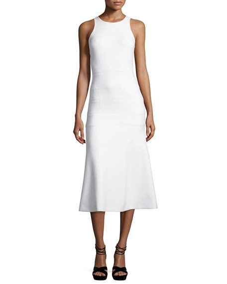 Elizabeth And James Marley Sleeveless Flared Dress In White