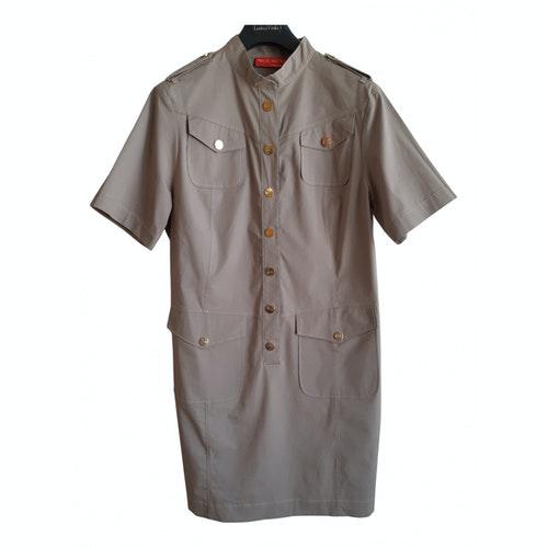 Pre-owned Krizia Brown Cotton - Elasthane Dress