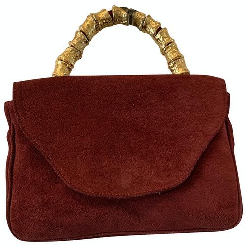 Pre-owned Sonia Rykiel Burgundy Suede Handbag