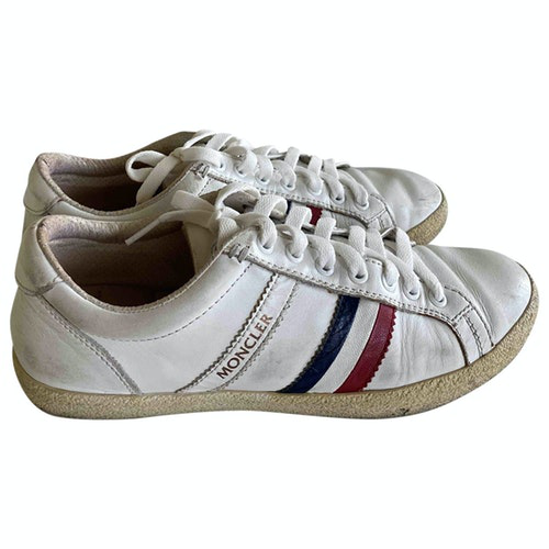 Pre-owned Moncler White Leather Trainers