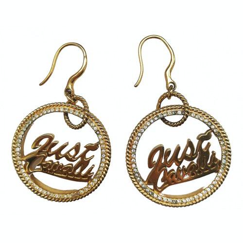 Pre-owned Just Cavalli Gold Metal Earrings