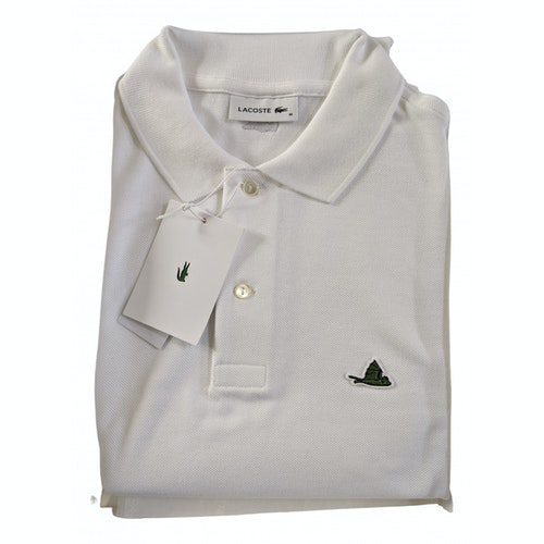 Pre-owned Lacoste White Cotton Polo Shirts