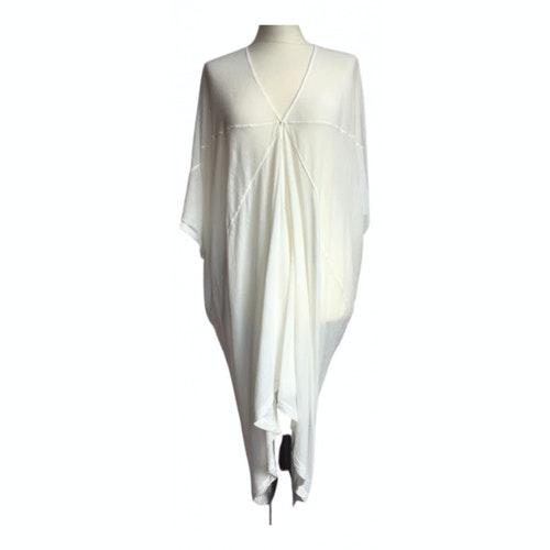 Pre-owned Rick Owens Drkshdw Ecru Cotton Dress