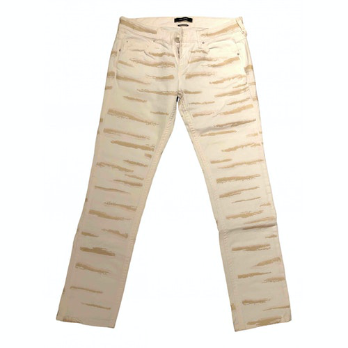 Pre-owned Isabel Marant White Cotton Jeans