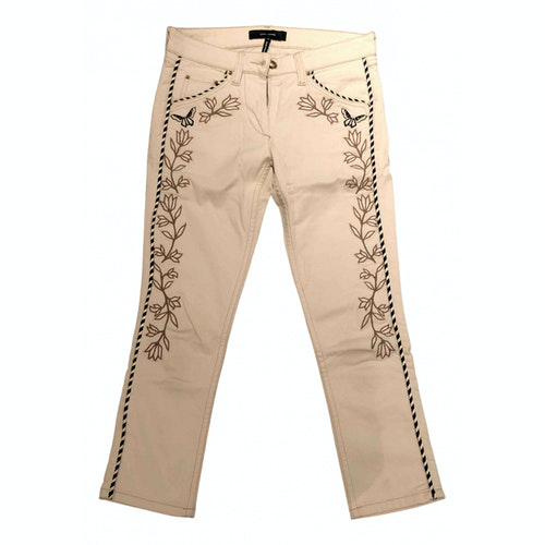 Pre-owned Isabel Marant Ecru Cotton Jeans