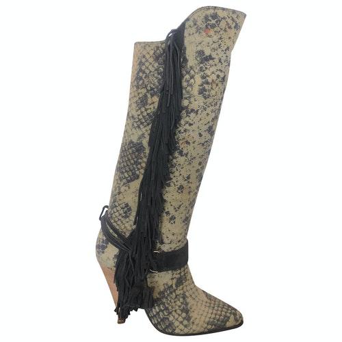 Pre-owned Isabel Marant Lokyo Khaki Cloth Boots