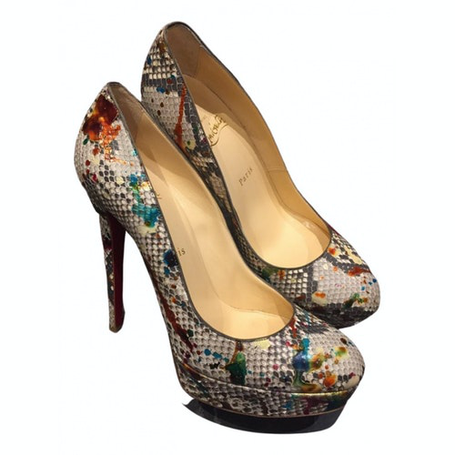 Pre-owned Christian Louboutin Multicolour Python Heels