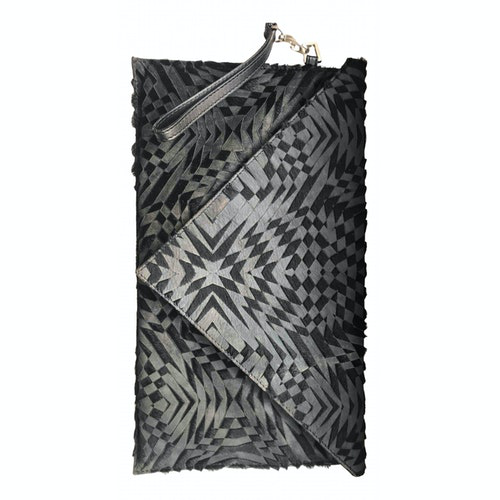 Pre-owned Gareth Pugh Black Leather Clutch Bag