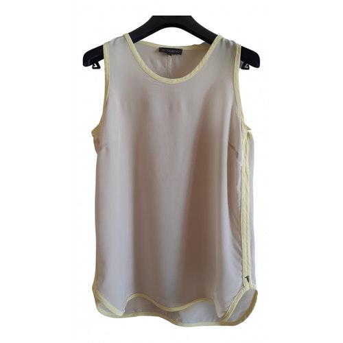 Pre-owned Trussardi Beige Silk  Top