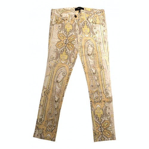 Pre-owned Isabel Marant Yellow Cotton Jeans
