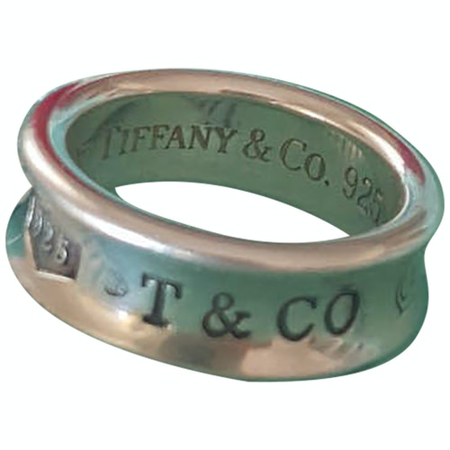 Pre-owned Tiffany & Co Tiffany 1837 Silver Ring