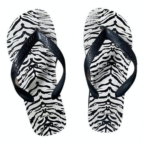 Pre-owned Saint Laurent Black Sandals