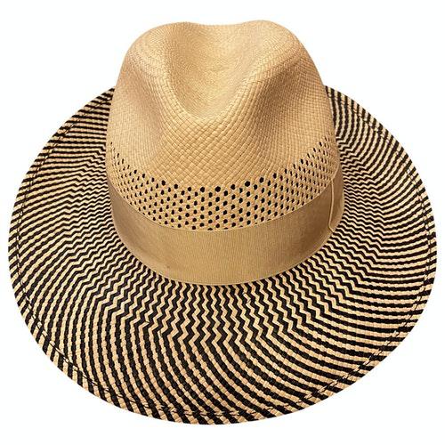 Pre-owned Borsalino Ecru Wicker Hat