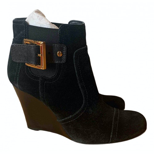 Pre-owned Tory Burch Black Suede Boots