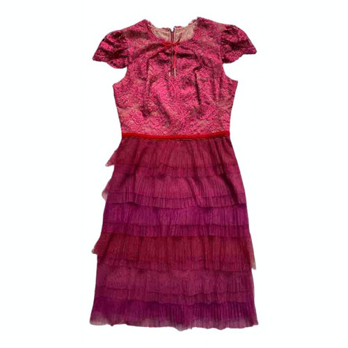 Pre-owned Marchesa Notte Red Dress