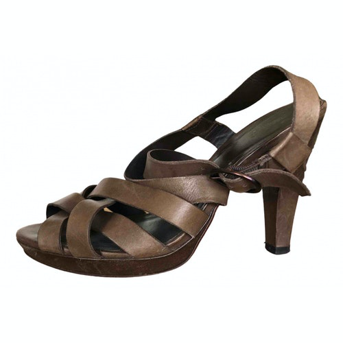 Pre-owned Comptoir Des Cotonniers Brown Leather Sandals