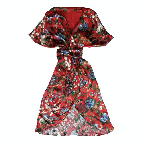 Pre-owned Alice And Olivia Red Silk Dress