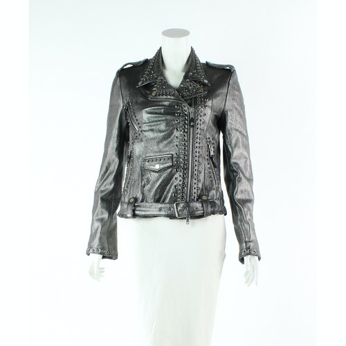 Pre-owned Htc Silver Leather Jacket