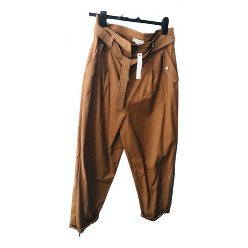 Pre-owned Topshop Tophop  Brown Trousers