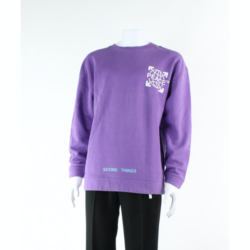Pre-owned Off-white Purple Cotton  Top
