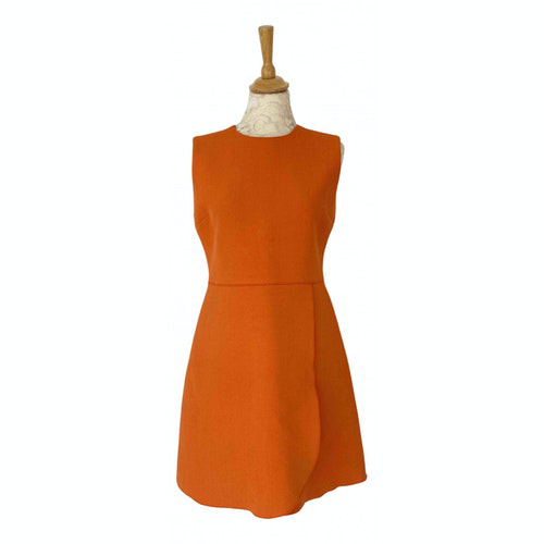 Pre-owned Victoria Victoria Beckham Orange Cotton Dress