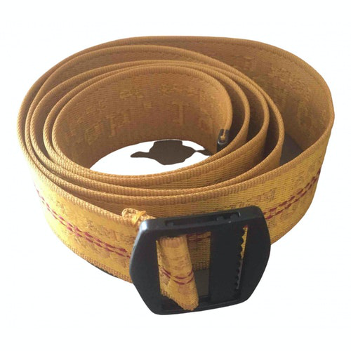 Pre-owned Luisa Cerano Gold Cotton Belt