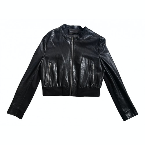 Pre-owned Bcbg Max Azria Black Leather Jacket