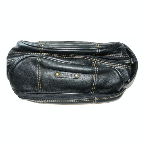 Pre-owned Fossil Black Leather Travel Bag