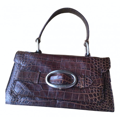 Pre-owned Tosca Blu Brown Leather Handbag