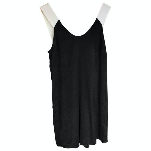 Pre-owned Claudie Pierlot Black Silk Dress