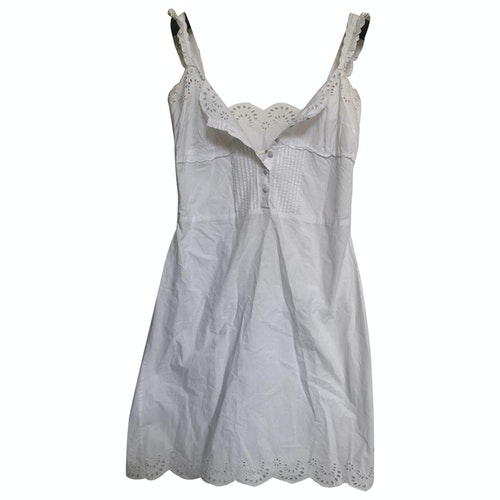 Pre-owned Guess White Cotton Dress
