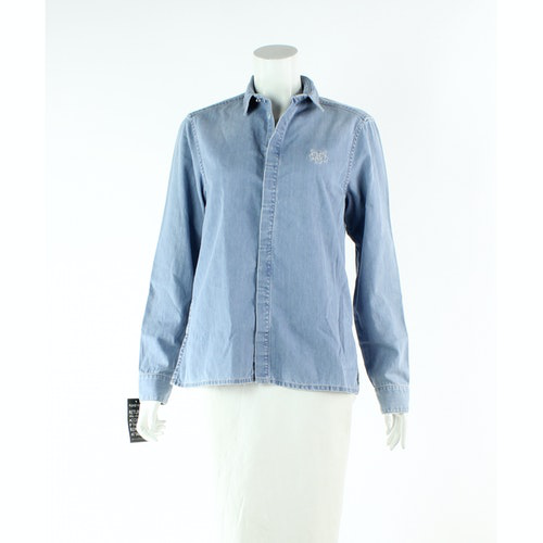 Pre-owned Kenzo Blue Cotton Shirts