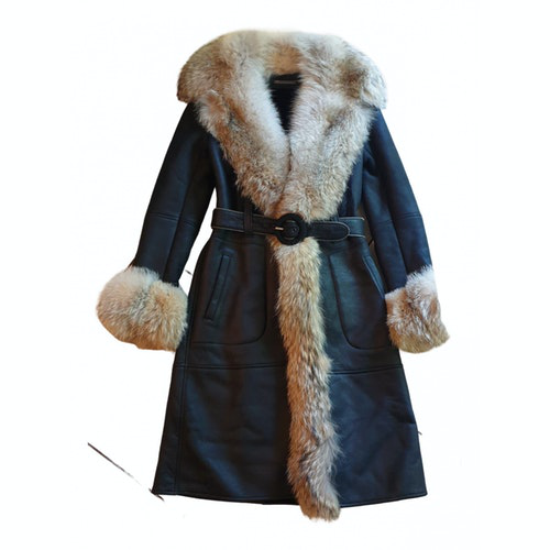 Pre-owned Barbara Bui Multicolour Shearling Coat