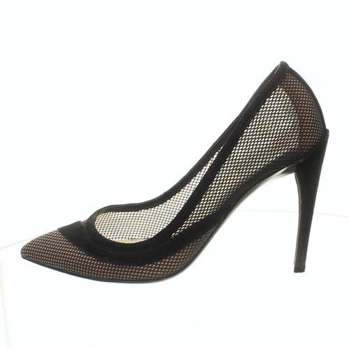 Pre-owned Dior Black Leather Heels