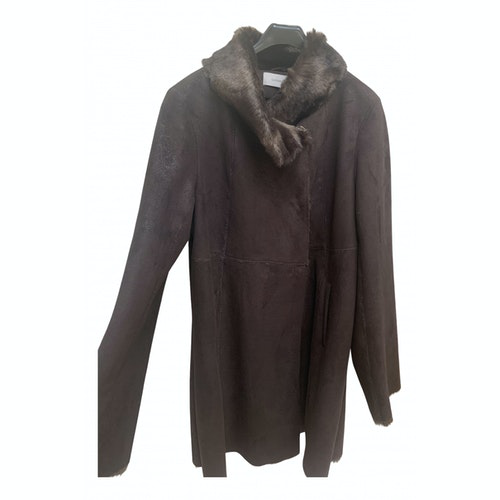 Pre-owned Gerard Darel Brown Faux Fur Coat