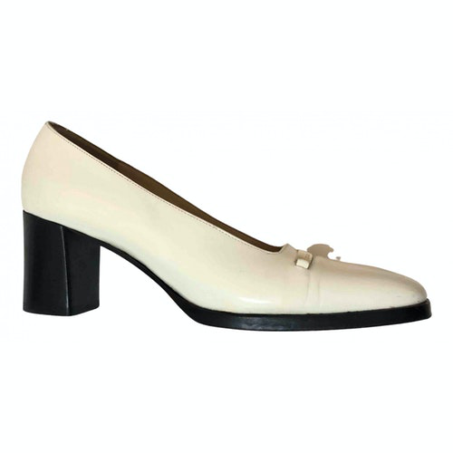 Pre-owned Gucci White Leather Heels