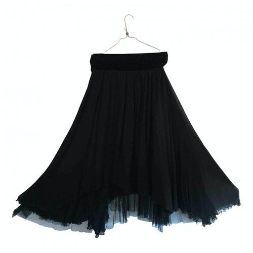 Pre-owned Jean Paul Gaultier Black Silk Dress