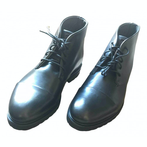 Pre-owned Strellson Black Leather Boots