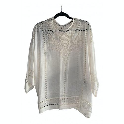 Pre-owned Isabel Marant Étoile Ecru Silk  Top