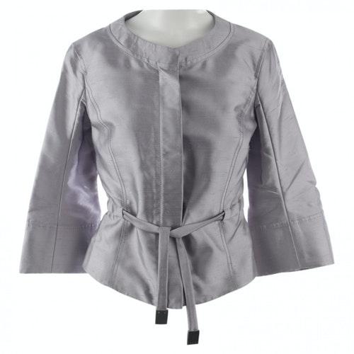 Pre-owned Celine Metallic Silk Jacket