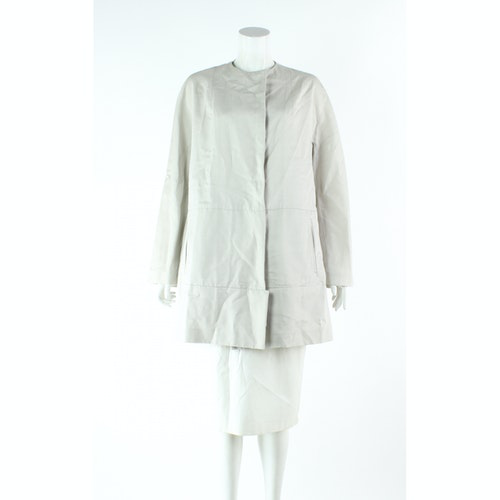 Pre-owned Marni Grey Cotton Trench Coat