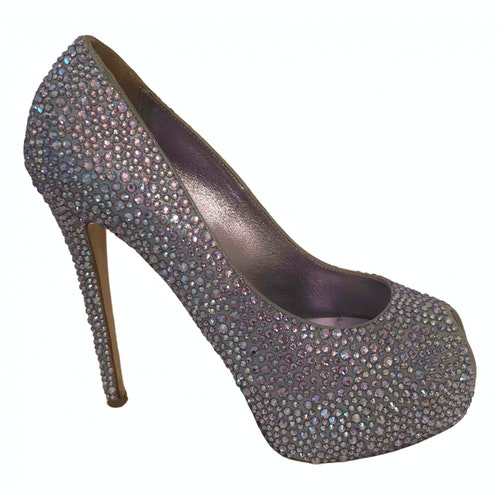 Pre-owned Le Silla Turquoise Glitter Heels