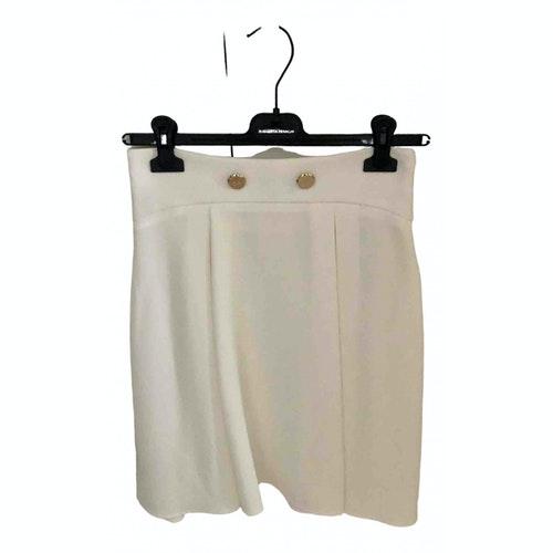 Pre-owned Elisabetta Franchi White Skirt