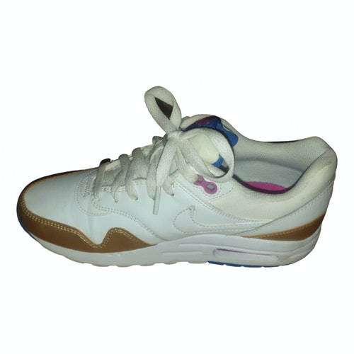 Pre-owned Nike Air Max  White Leather Trainers