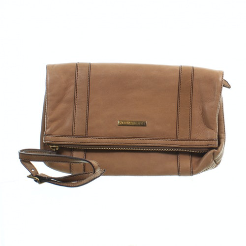 Pre-owned Burberry Beige Leather Clutch Bag